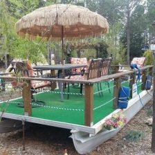 Tiki Bar on the (fake) lake