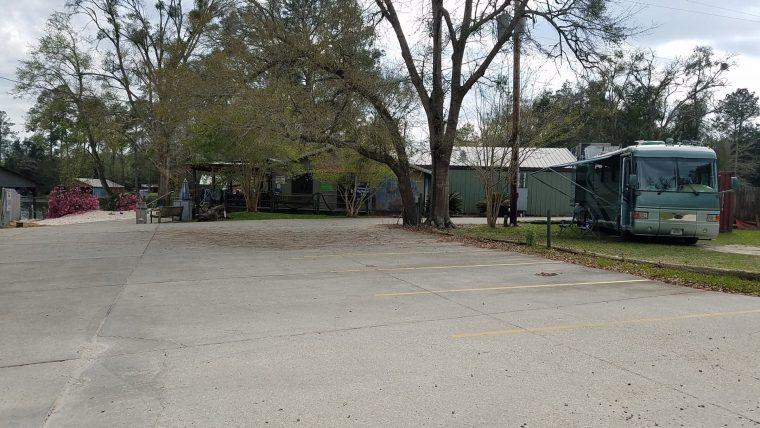 Our Boondocking site at the parking lot