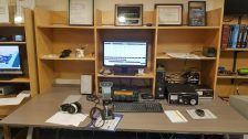 One of the ham radio club operating stations