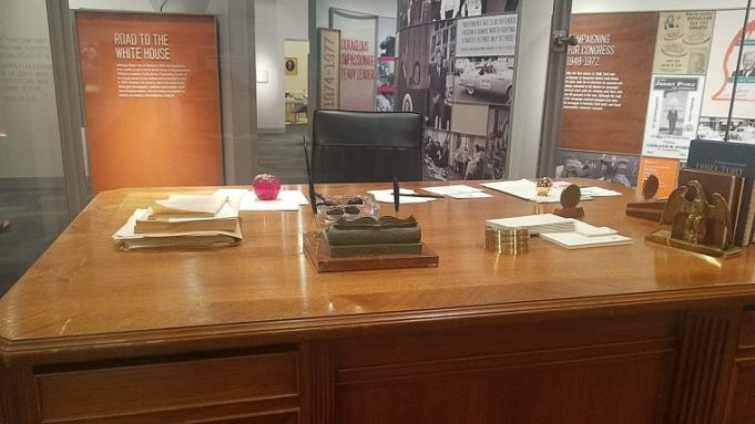 The desk from Ford's congressional office
