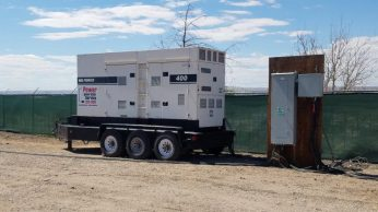 Our 450 hp 6 cyl diesel power generator for the volunteers