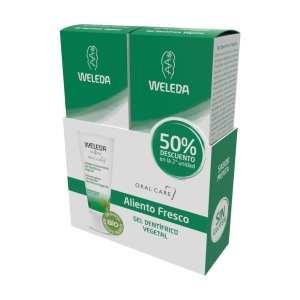 Duplo Gel Dentífrico Vegetal – Weleda – 2 x 75 ml