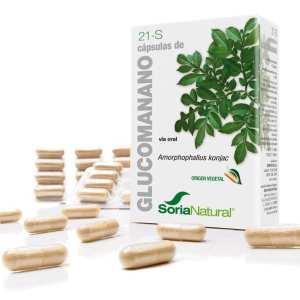 21-S Glucomanano – Soria Natural – 60 cápsulas