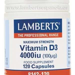 Vitamina D3 Natural 4.000 UI – Lamberts – 120 comprimidos