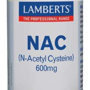 NAC (N-acetil-cisteina) 600 mg – Lamberts – 60 cápsulas