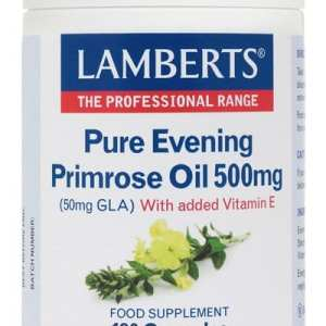 Aceite de Prímula u Onagra Puro 500 mg con Vitamina E – Lamberts – 180 perlas