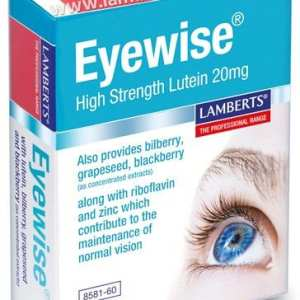 Eyewise® 20 mg de Luteína – Lamberts – 60 comprimidos