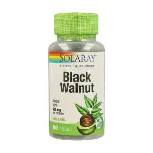 Nogal Negro ( Black Walnut Hull ) 500mg – Solaray – 100 capsulas