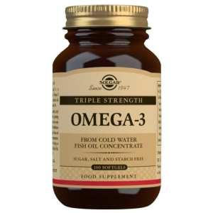 Omega 3 Triple Concentración – Solgar – 100 perlas