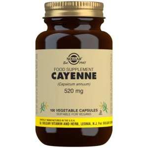 Cayena 520 mg – Solgar – 100 cápsulas