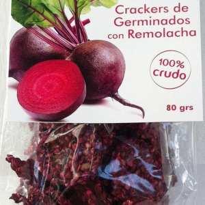 Crackers con Germinados con Remolacha ECO 80g
