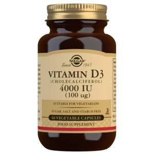 Vitamina D3 4000 UI – Solgar – 60 cápsulas
