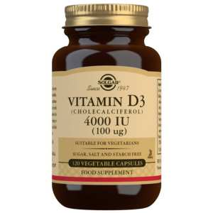 Vitamina D3 4000 UI – Solgar – 120 cápsulas