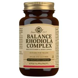 Balance Rhodiola Complex – Solgar – 60 cápsulas