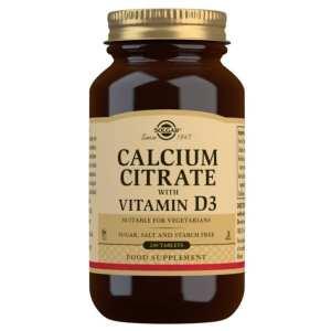 Citrato de Calcio con Vitamina D3 – Solgar – 240 comprimidos