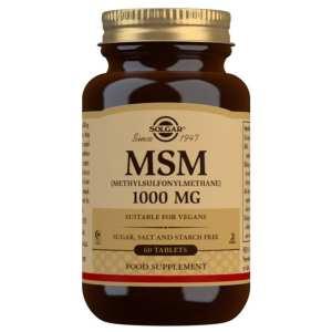 MSM 1000 mg (Metil Sulfonil Metano) – Solgar – 60 Comprimidos
