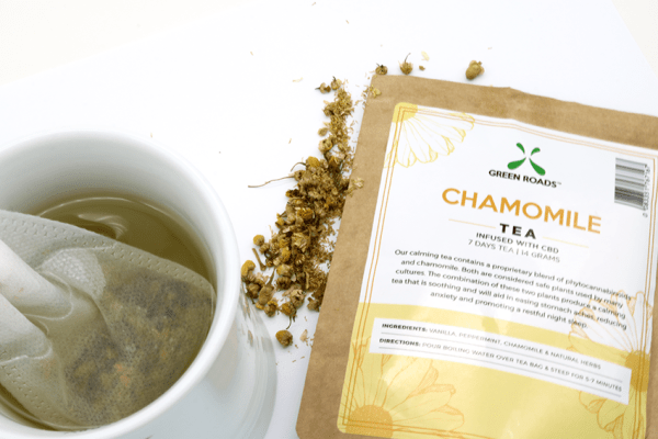 green roads chamomile tea