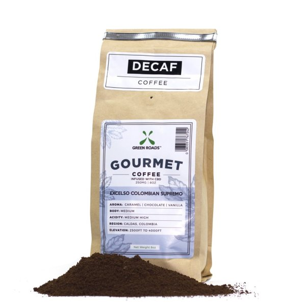 green roads decaf cbd coffee at herb rx