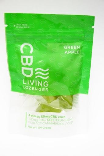 CBD Living Lozenge Green Apple 4pk