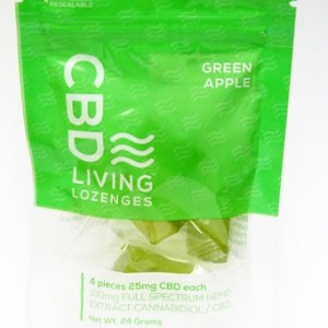 CBD Living Lozenge Green Apple 4pk
