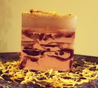 Calendula bar: a soothing, anti-inflammatory soap with anti-bacterial properties ; it is good for dry skin and acneic skin