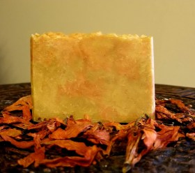 Carrot turmeric honey bar: an anti-aging soap which calms irritated skin and helps with discoloration