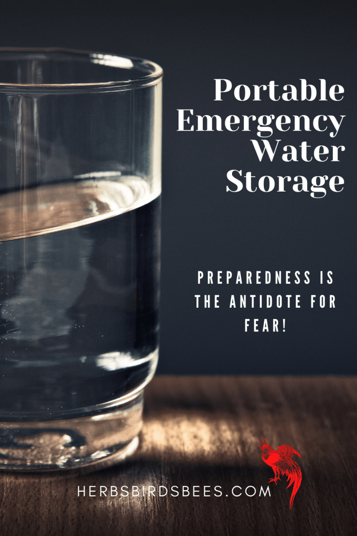 Portable Emergency Water Storage