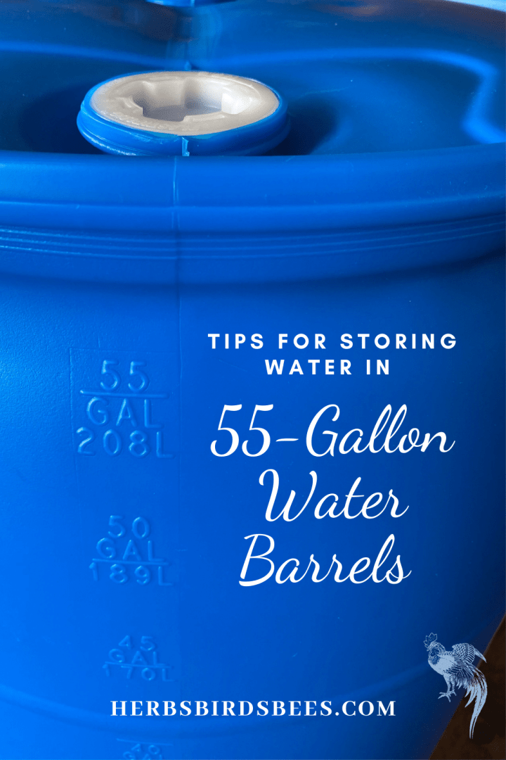 Tips For Storing Water in 55-Gallon Plastic Water Barrels