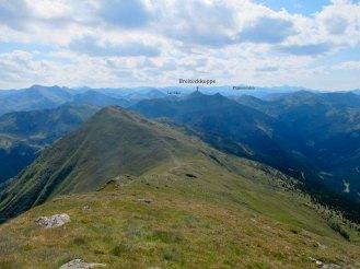 Blick vom Seitner Zinken auf den letzten Berg