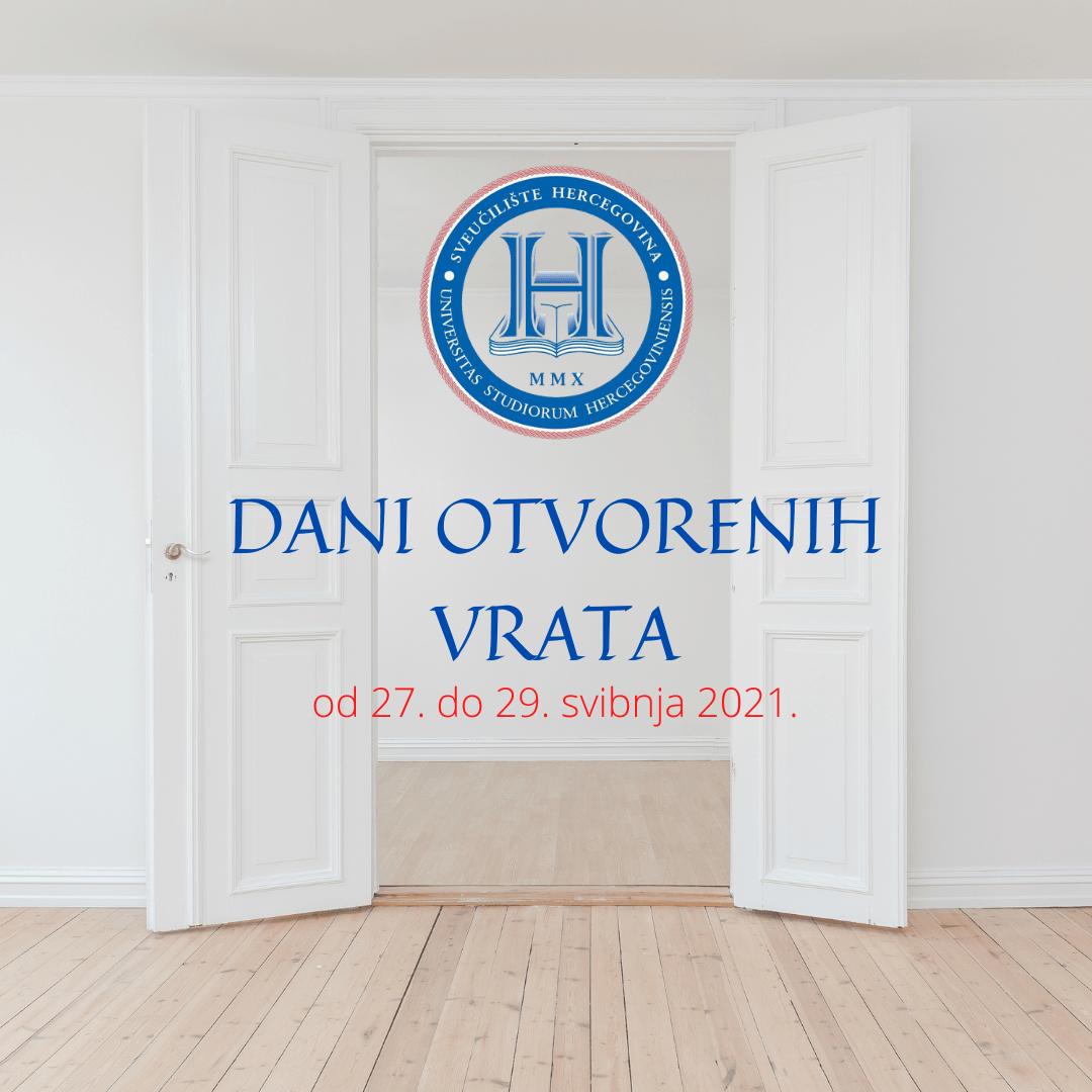 Najava: Dani otvorenih vrata na Sveučilištu Hercegovina