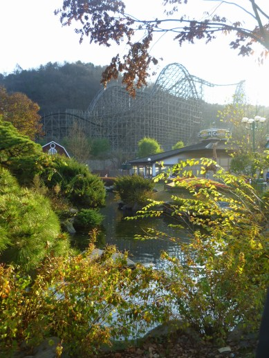The wooden roller coaster in Everland