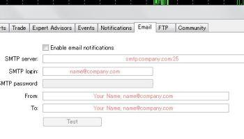 How To Setup Mt4 Mt5 Metatrader Email Notification Alert Faq