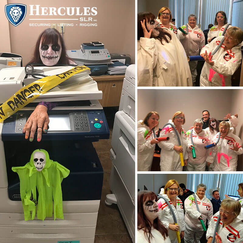 workplace culture matters employees dressed up for Halloween at Hercules slr
