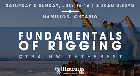 rigging course, fundamentals of rigging in hamilton ontario