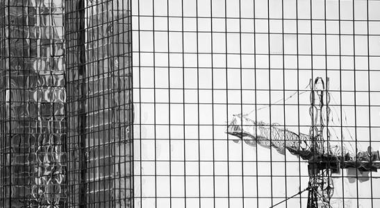 reflected-crane