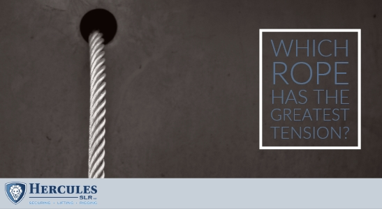 which rope has the greatest tension, wire rope coming rigging
