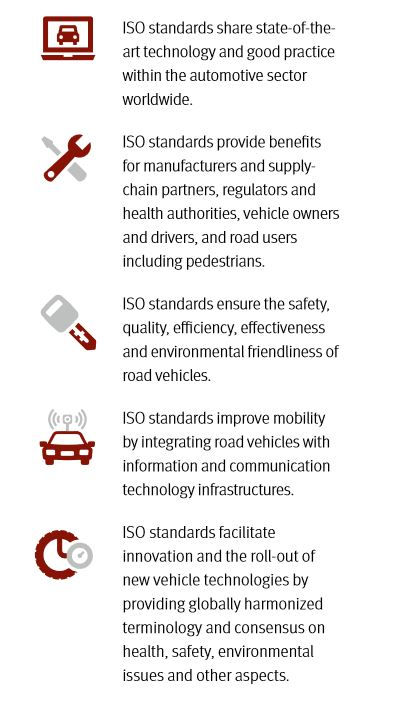 why we need ISO standards for road vehicles