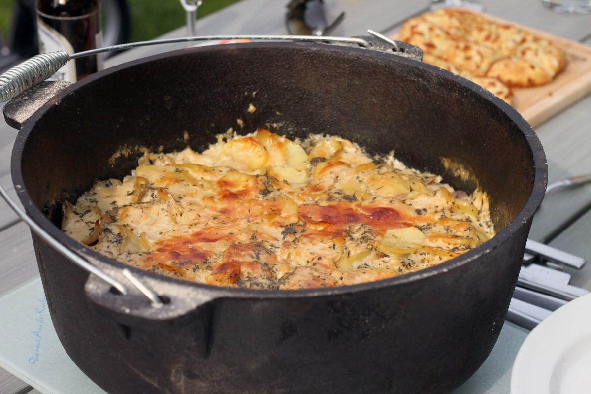 Dutch Oven Kartoffelgratin