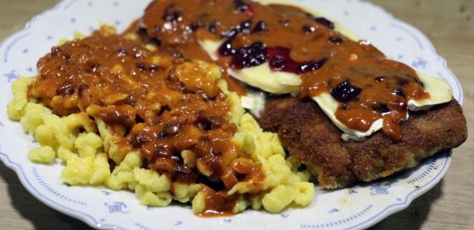 SchniBlo Tag 2017 – Camembert-Preiselbeer-Schnitzel
