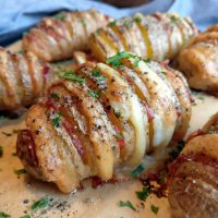 Fächerkartoffeln mit Käse & Bacon