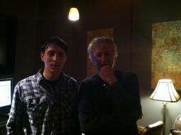 In the studio tracking vocals with Bob Pollard of Guided By Voices