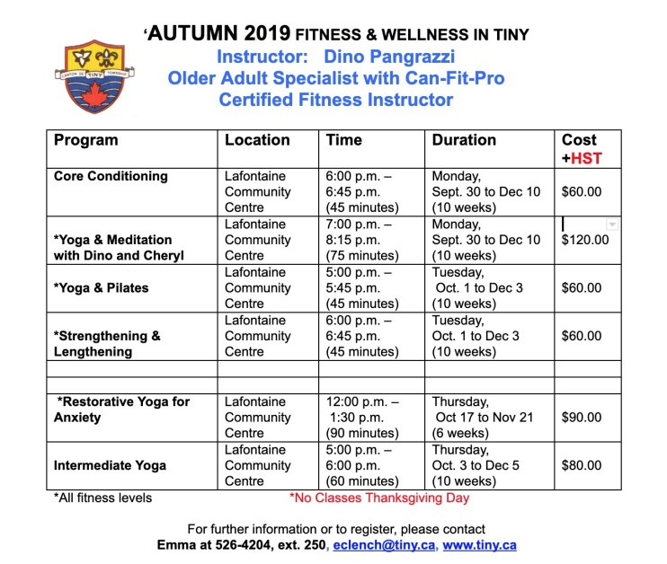 AUTUMN 2019 FITNESS & WELLNESS IN TINY