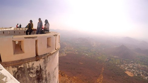 View from the top of the Monsoon Palace