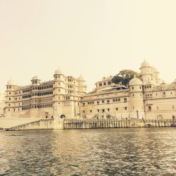 View of the City Palace from our boat