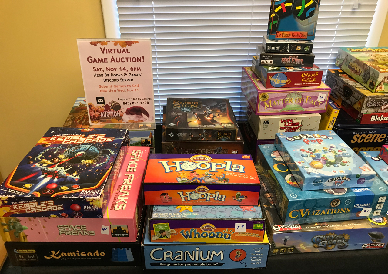 Games in Virtual Game Auction Nov 2020