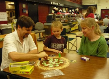 Tim Teaching Fiery Dragons at Spann Elementary Family Game Night