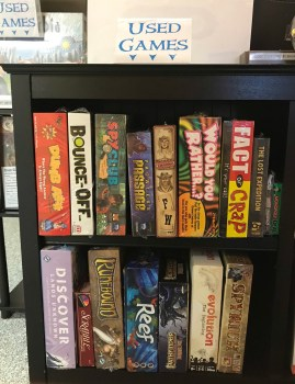 Used Games at HBB&G, section 1 of 3. Sample image only, selection changes frequently.