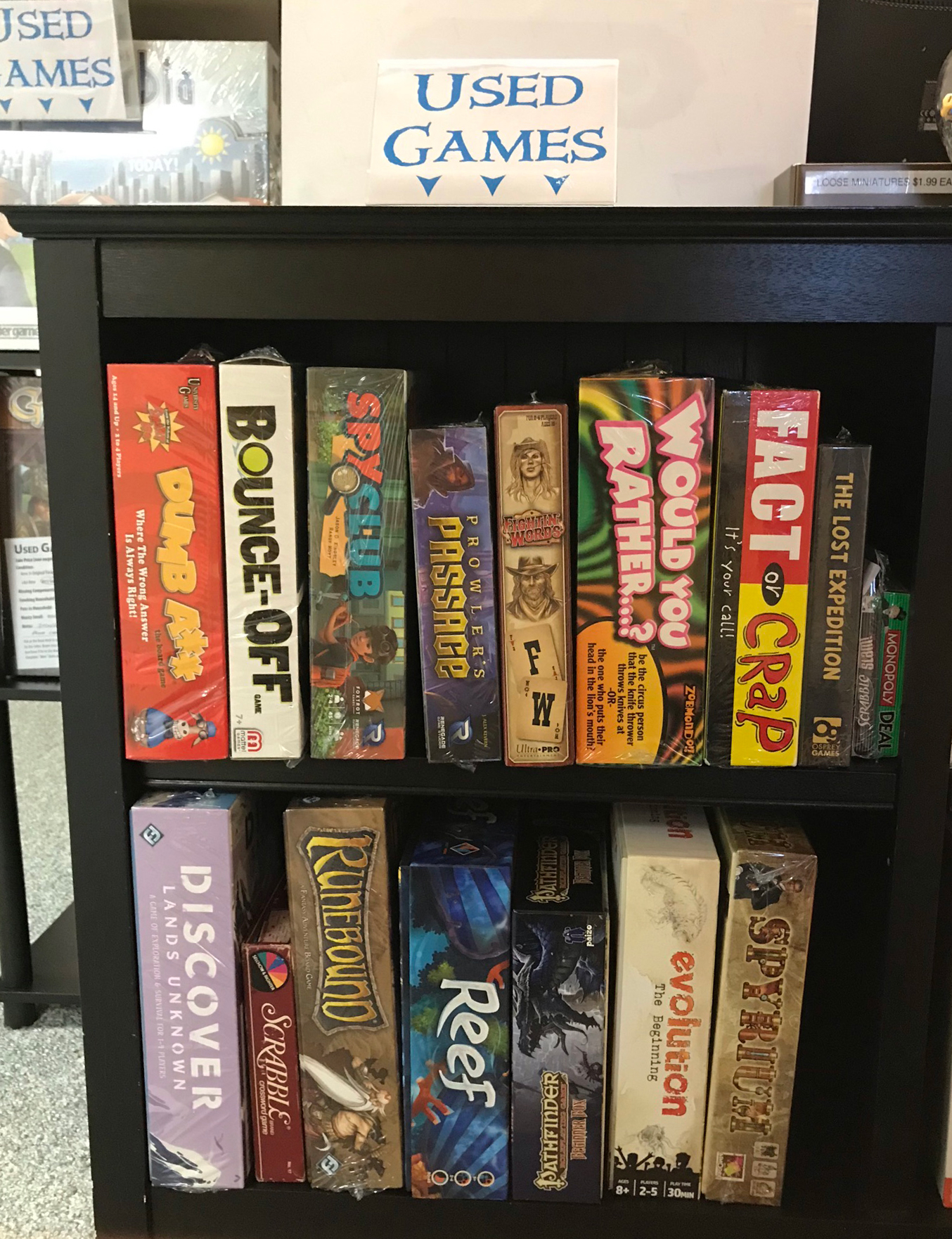 Used Games Section 1 of 3 at Here Be Books & Games