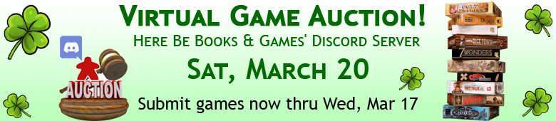 Virtual Game Auction – March 2021