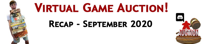 September 2020 Virtual Game Auction Recap